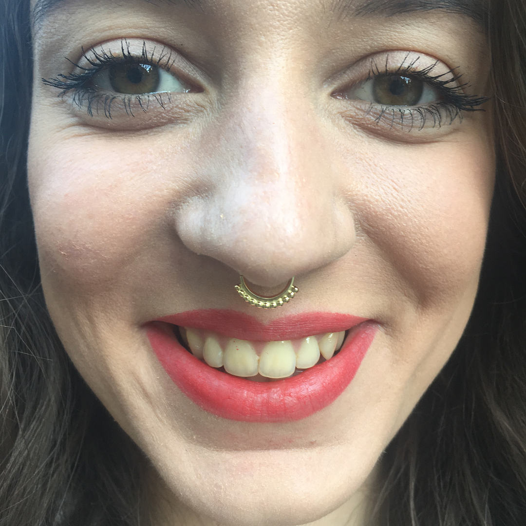 Septum with danila tarcinale 18kt yellow