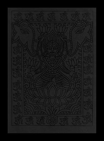 Aaron Anthony - black on black series print