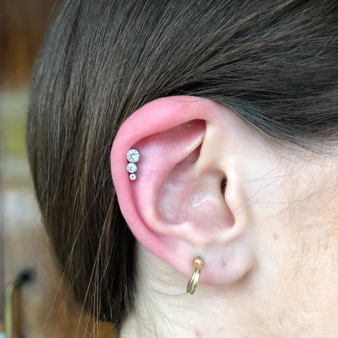 helix with a triple CZ cluster