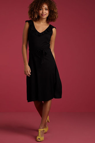 VICKY DRESS VISCOSE LYCRA Black