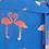 Thumbnail: Elva Bermuda Flamingo Batik Midi Dress