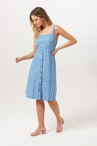 ROSA CHAMBRAY STRIPE Dress
