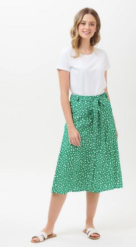 Rosanna Painterly Spot Midi Skirt