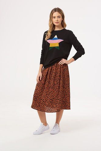 SORREL ANIMAL SPOT Midi Skirt