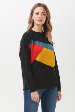 LIVVY KALEIDOSCOPE COL BLOCK Sweater