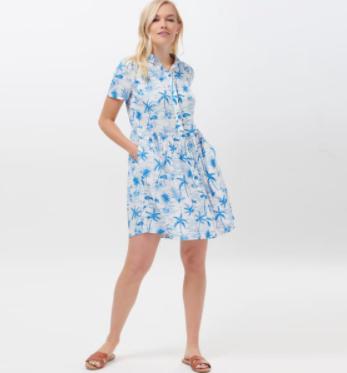 Keeley Hawaii Flamingo Shirt Dress
