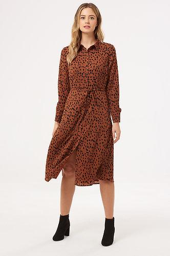 BRITNEY ANIMAL SPOT Shirt Dress