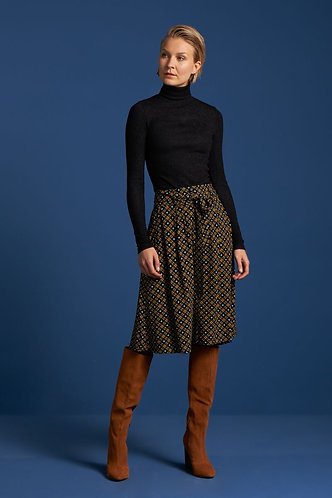 AVA SKIRT Square Dance Black