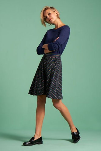 SOFIA SKIRT ELMORE STRIPE Black
