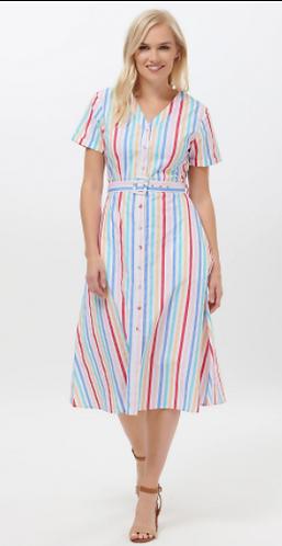 Cassidy Candy Stripe Midi Dress
