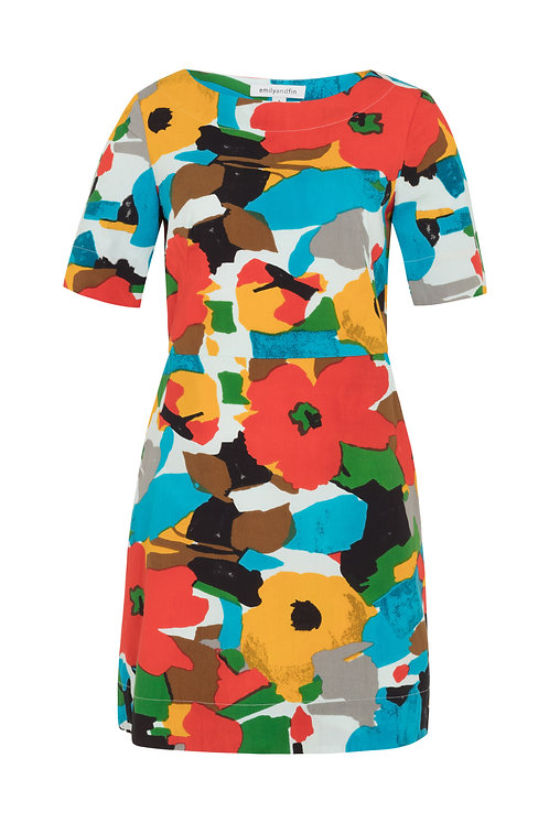 AGGIE DRESS-Fire shade floral