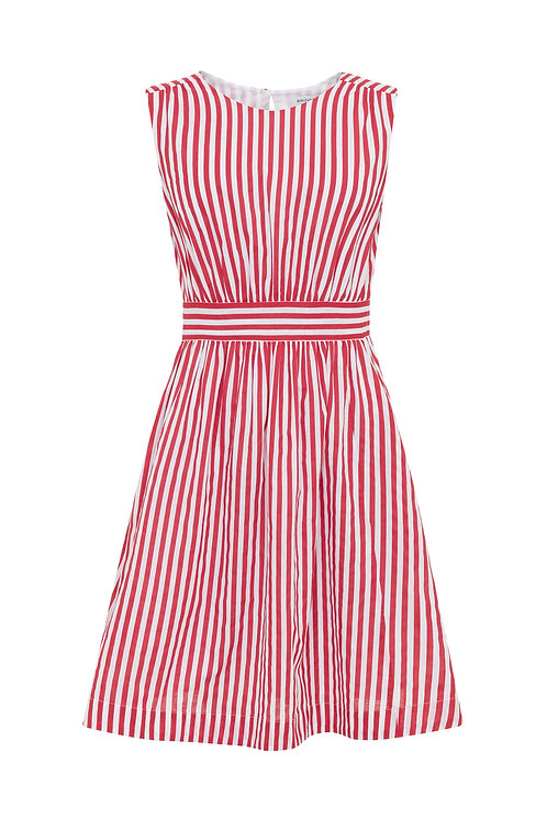 LUCY DRESS-Red and White stripes