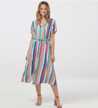 Cassidy Cruise Stripe Midi Dress