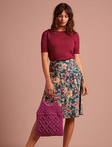 Fifi Button Skirt St Kitt