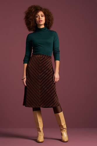 TRUDY SKIRT NIKKI STRIPE Pine Green