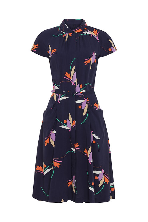 POLLY DRESS-Birds of paradise