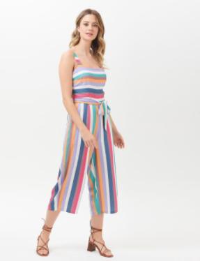 Millie Cruise Stripe Culotte Jumpsuit