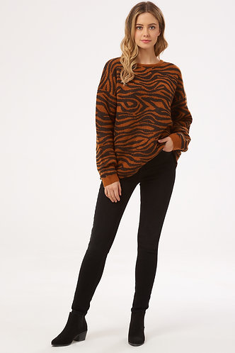 LIVVY BIG CAT TIGER Sweater