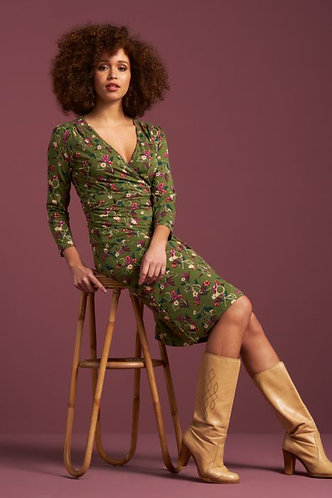 CECIL DRESS KANSAS Olive Green