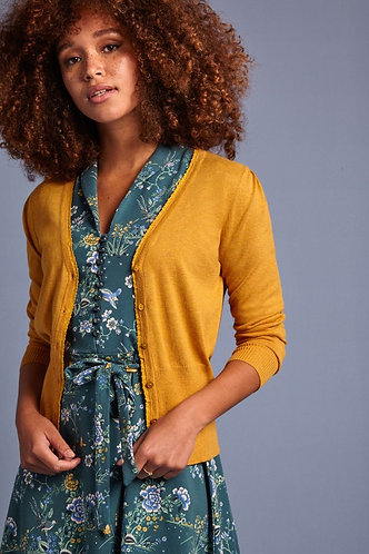 CARDI V-NECK COCOON Honey Yellow