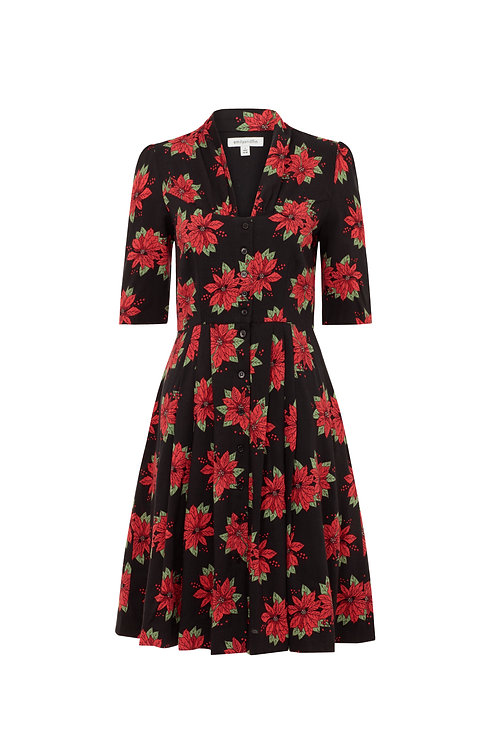 ROSE DRESS-Pretty poinsettia