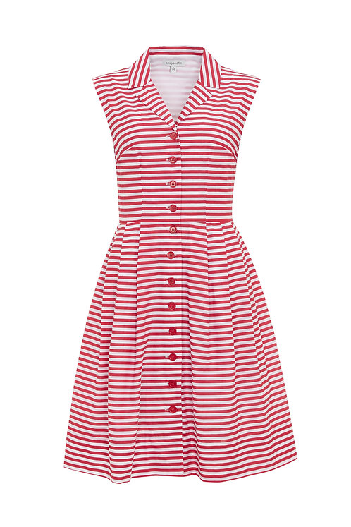 FRANK DRESS-Red and White stripes