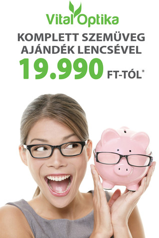 Komplett szemüveg ajándék lencsével 19.990 Ft-tól*