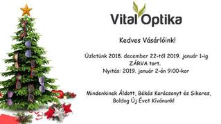 Áldott, békés Karácsonyt és sikeres, boldog Újévet kívánunk!