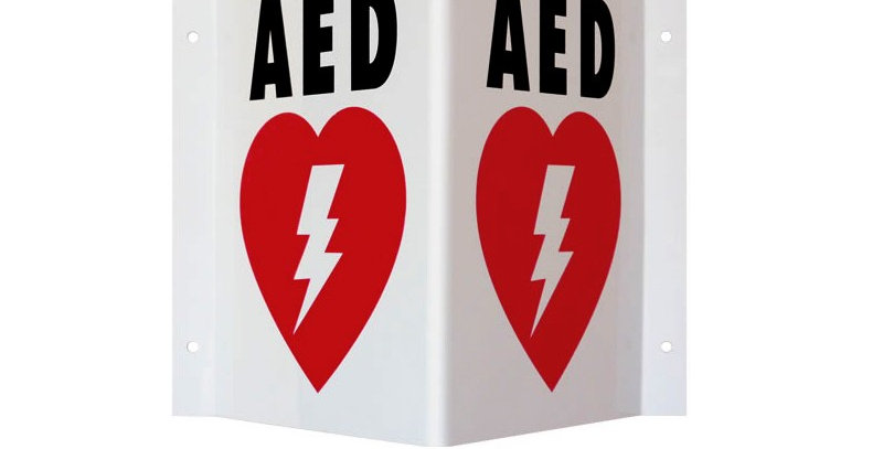 AED Triangular wall sign