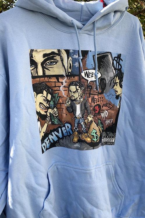 Blue WeeBey Comic Hoodie