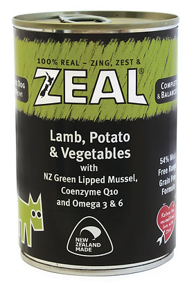 Zeal Lamb, Potato & Vegetables Grain Free Dog Canned Food 390g