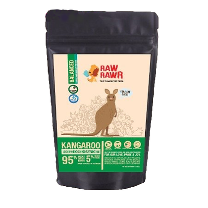 Raw Rawr Freeze Dried Kangaroo Balanced Diet 400g/1.2kg