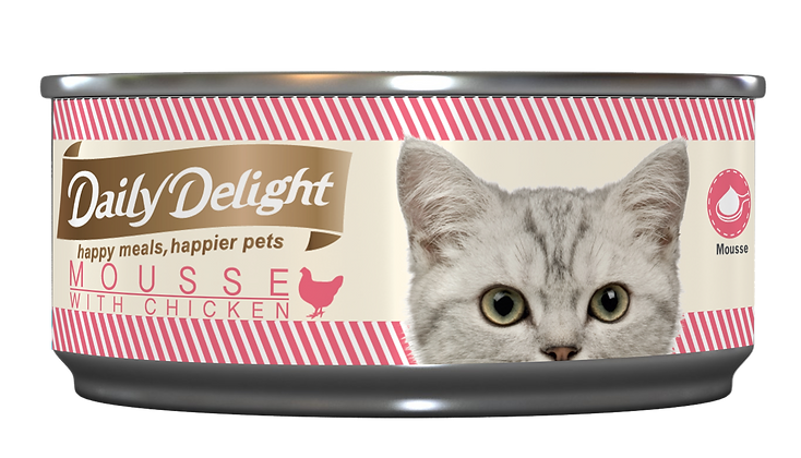 Daily Delight MOUSSE with Chicken Cat Canned Food 80g