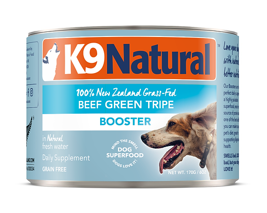 K9 Natural Beef Green Tripe Booster Canned 170g