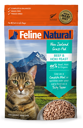 Feline Natural Beef & Hoki Freeze Dried Cat Food 320g