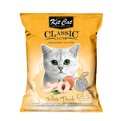 Kit Cat White Peach Classic Clump Cat Litter 10kg/7l