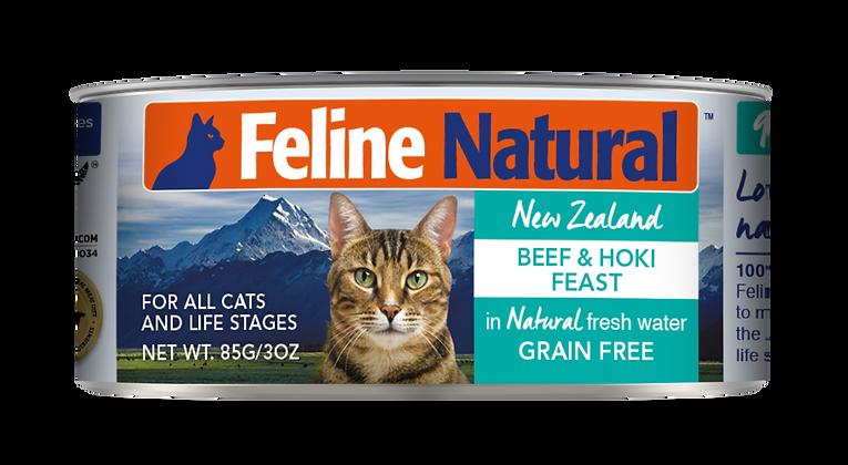 Feline Natural Beef & Hoki Cat Canned Food 85g