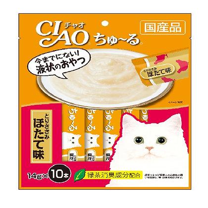 Ciao Chu ru Chicken Fillet Scallop Flavour 14g x 10