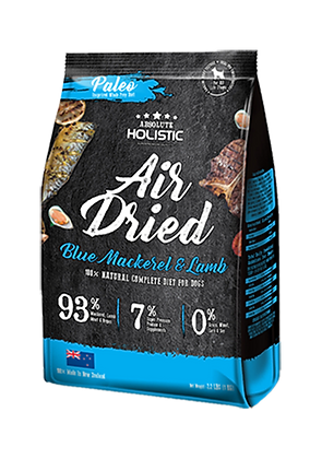 Absolute Holistic Air Dried Dog Treats (Blue Mackerel & Lamb) 1kg