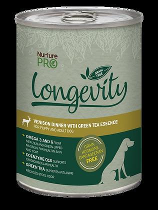 Nurture Pro Longevity Grain Free Venison with Green Tea Dog Canned Food 375g