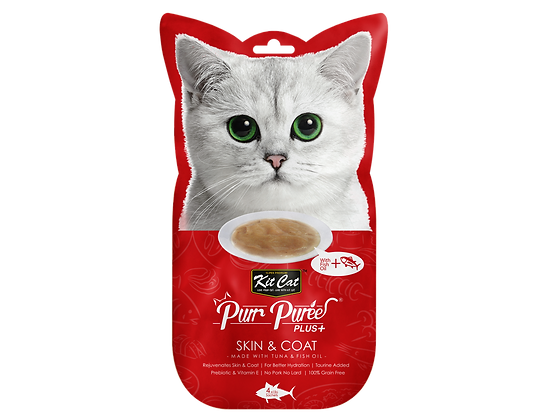Kit Cat Purr Puree Plus+ Skin & Coat (Tuna)
