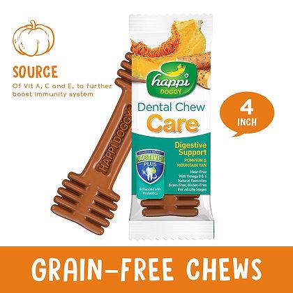 "Happi Doggy Dental Chew Care Pumpkin & Mountain Yam (Digestive Support) 4"""