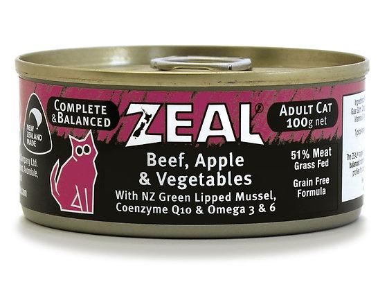 Zeal Beef, Apple & Vegetables Grain Free Cat Canned Food 100g
