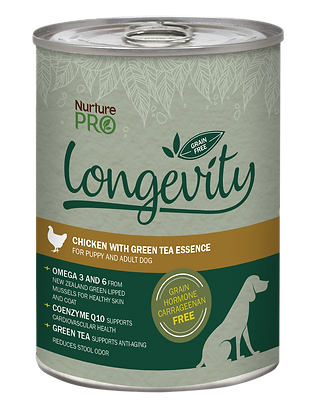 Nurture Pro Longevity Grain Free Chicken with Green Tea Dog Canned Food 375g