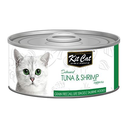 Kit Cat Tuna & Shrimp Aspic Canned Cat Food 80g