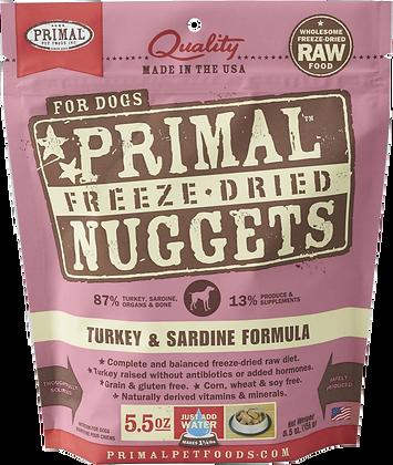 Primal Freeze Dried Turkey & Sardine (Dog) 5.5oz