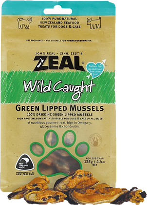 Zeal Green Lipped Mussels Cat & Dog Treats 125g