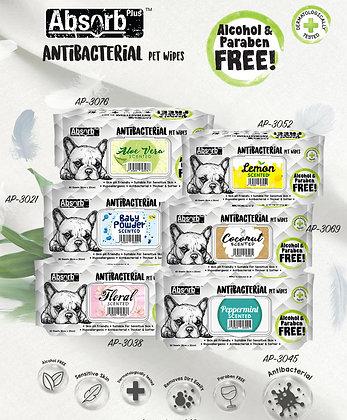 Absorb Plus Antibacterial Pet Wipes