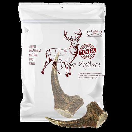 Absolute Bites Whole Deer Antlers Dental Chew (Mini)