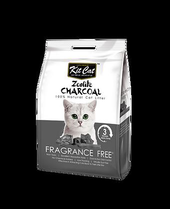 Kit Cat Zeolite Charcoal Fragrance Free Cat Litter 4kg
